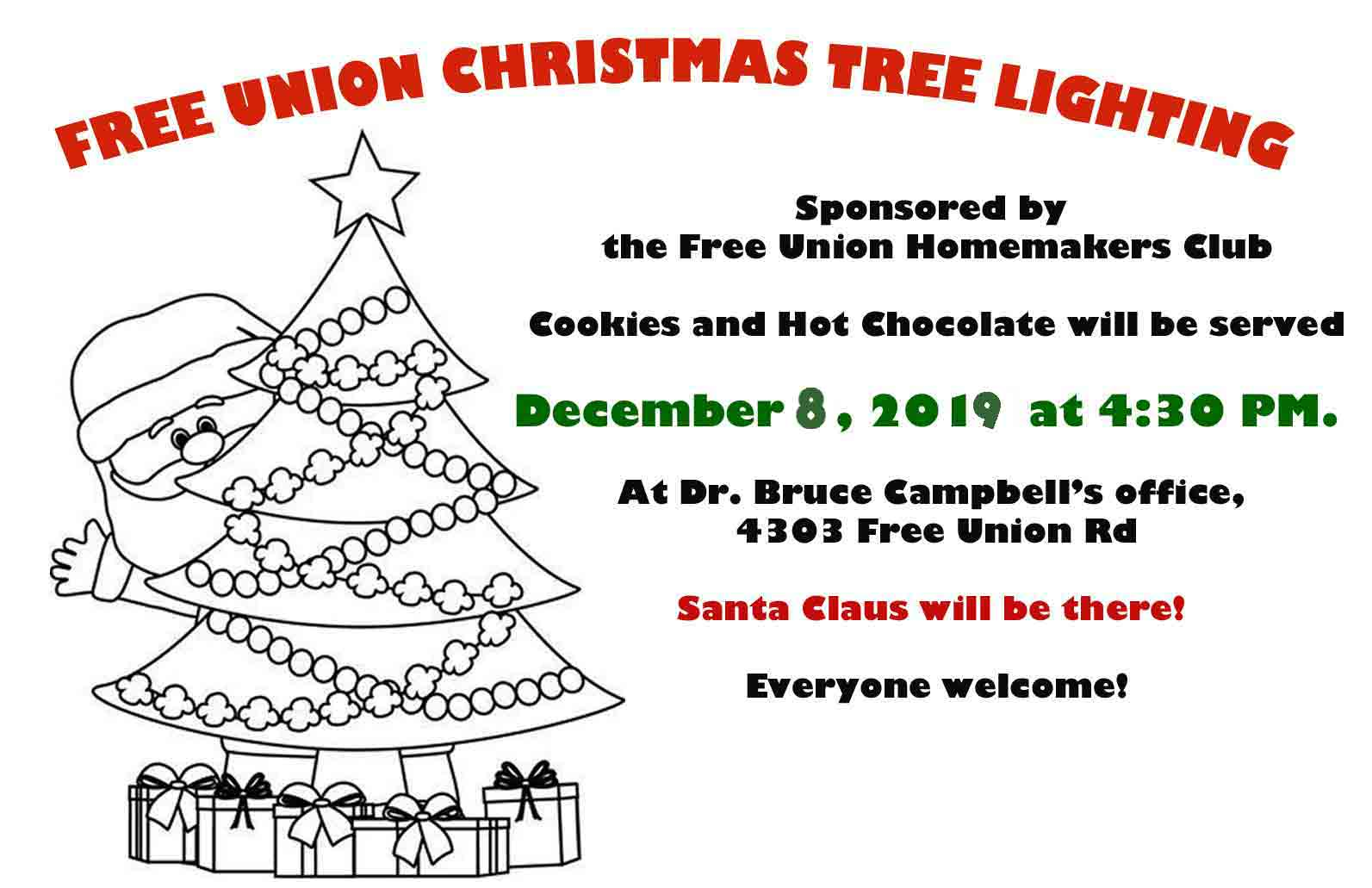 Free Union Christmas Tree Lighting